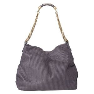 STELLA MCCARTNEY PURPLE FALABELLA CLOTH HANDBAG